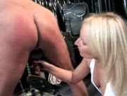 Dom Handjob With Really Sexy Blonde Girl